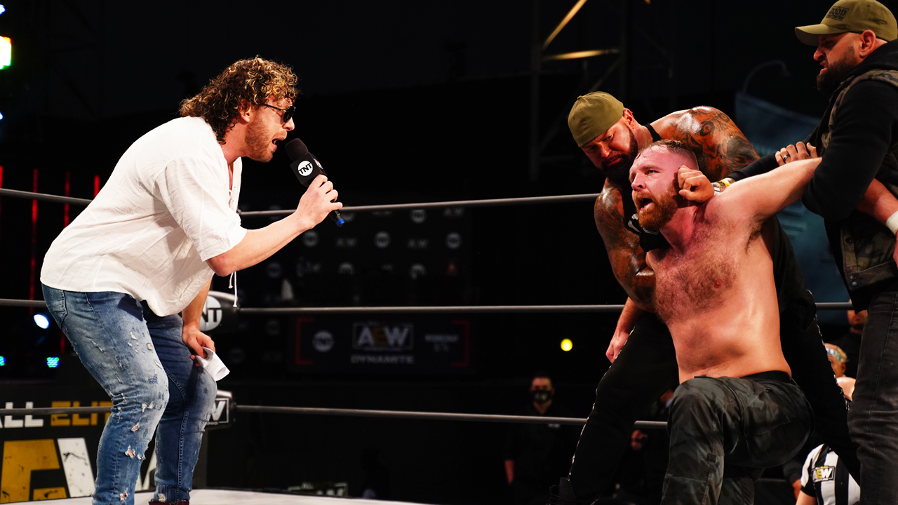jon moxley kenny omega exploding barbed wire deathmatch