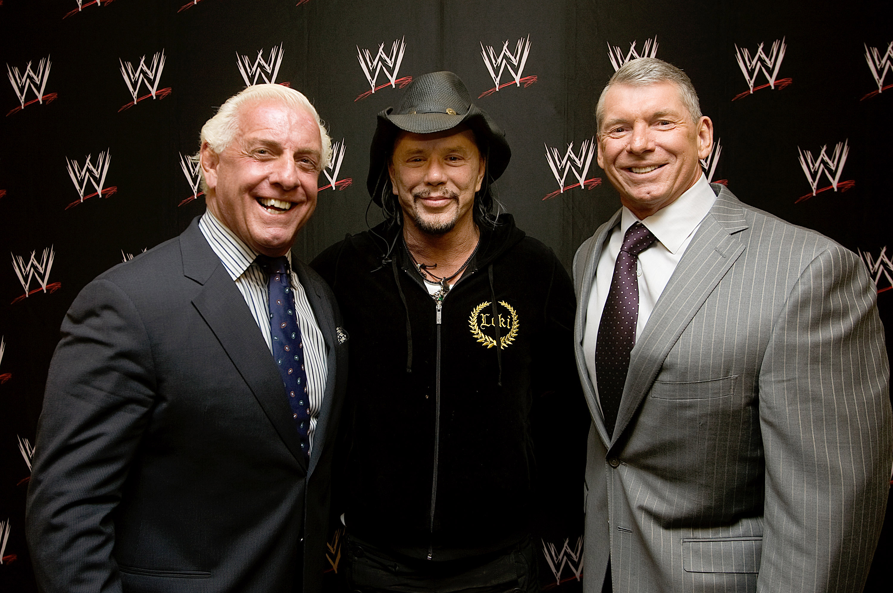 Ric Flair, Mickey Rourke & Vince McMahon
