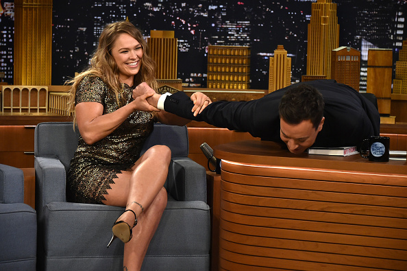 Ronda Rousey & Jimmy Fallon